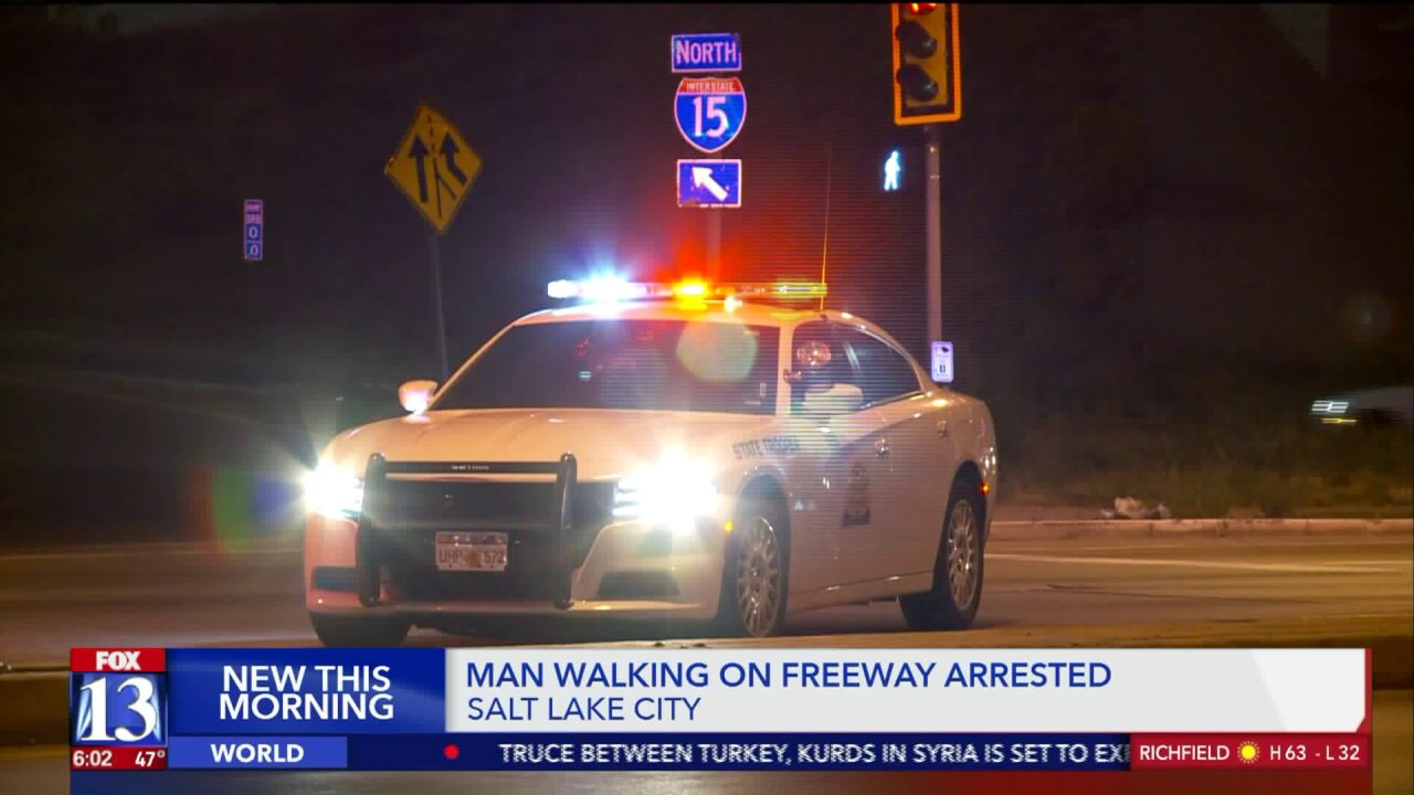 Trooper assaulted after approaching man walking on I-15 in Salt Lake City