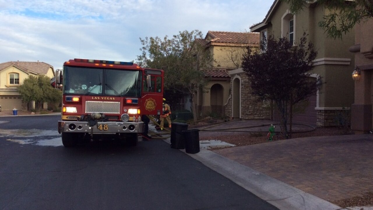 3 displaced after kitchen fire in NW Las Vegas