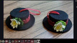 DIY snowman hats from ribbonsspools