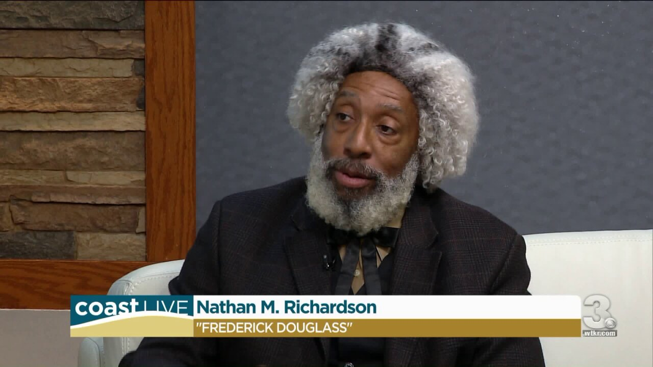 Living History Performance of Frederick Douglass on Coast Live