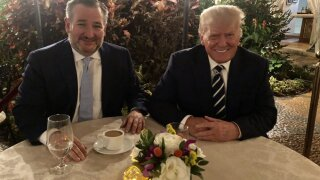 Texas Senator Ted Cruz meets with former President Donald Trump