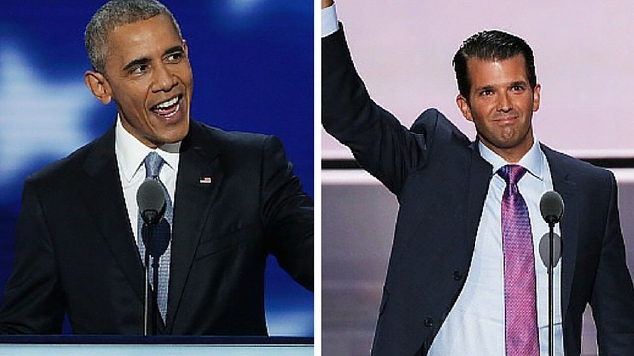 Donald Trump Jr. accuses President Obama of plagiarizing