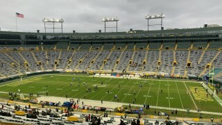 Packers Rams pandemic field home game