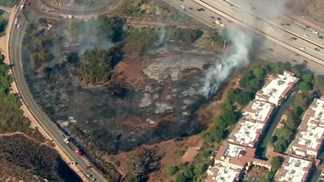 Brush fire breaks out near retirement home