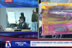 Roy Police: Girl hospitalized after eating THC-infused candy from food bank
