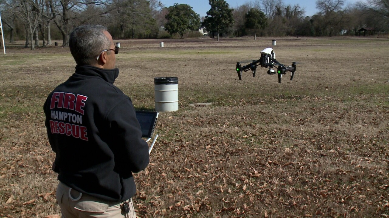 One year into launch, drones giving Hampton police & firefighters new perspectives