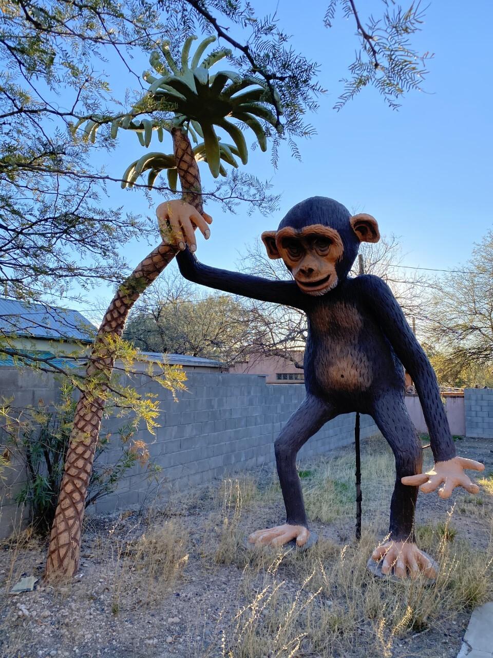 Magic Carpet Golf monkey statue