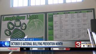 """<div class=""""scrippsVideoEmbed"""" data-json=""""title:Great%20Falls%20schools%20participate%20in%20National%20Bullying%20Prevention%20Month,"""