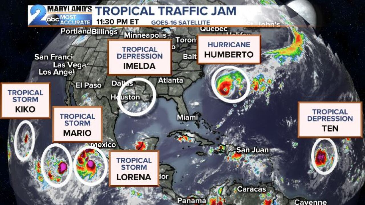 Multiple Tropical Systems On The Move