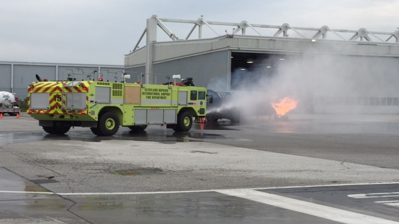 VIDEO: Cleveland Hopkins Airport disaster drill
