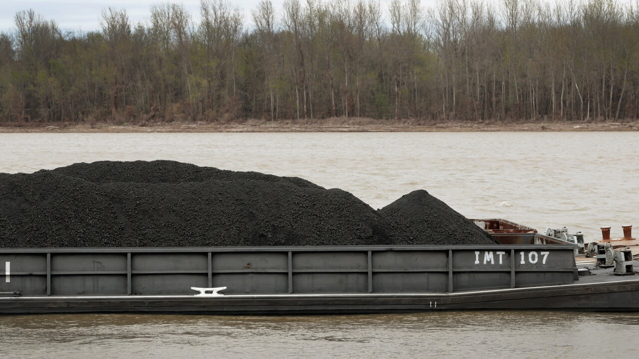 Coal Moved By Barge On The Ohio River
