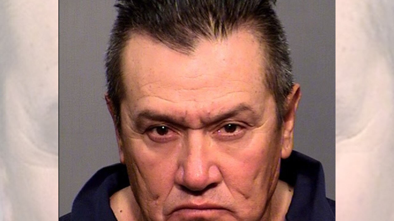 The Coconino Sheriff's Office said Tuesday that Gustavo Espino told authorities that 70-year-old Elaine Fann was his wife, but sheriff's spokesman Jon Paxton said investigators hadn't confirmed that they were married.