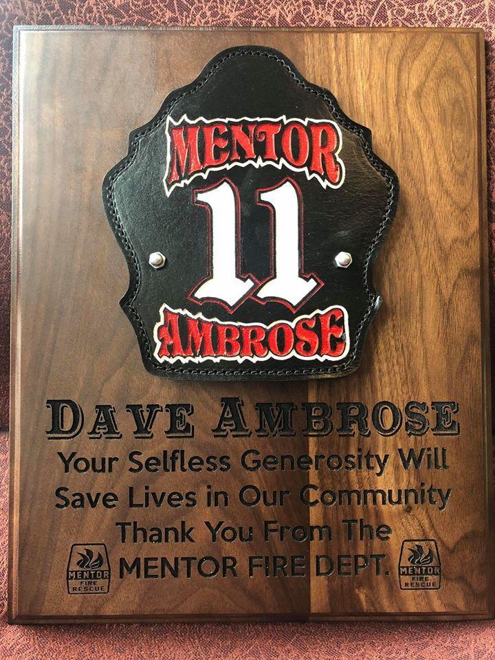 Dave Ambrose plaque