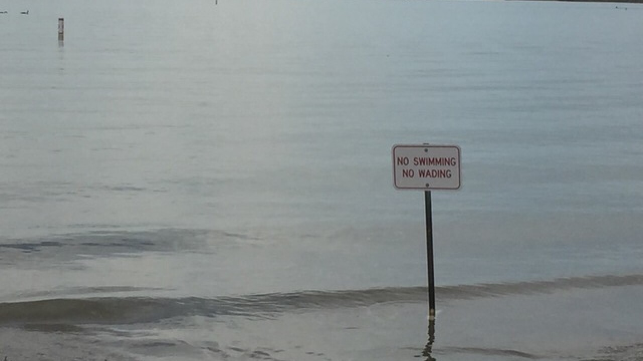 Swim beach re-openeing hinges on water tests