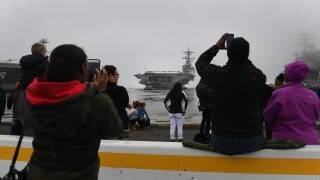 Photos: George H.W. Bush Carrier Strike Group leaves for regularly-scheduled deployment
