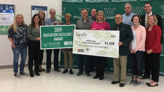 Williamston SET SEG MASB Education Excellence Award.png
