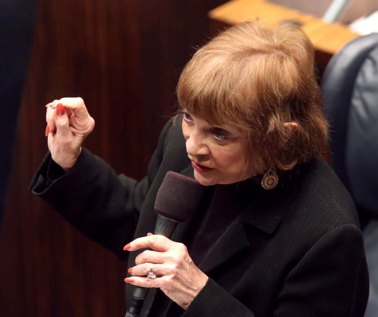 Gwen Margolis debates abortion bill in 2016
