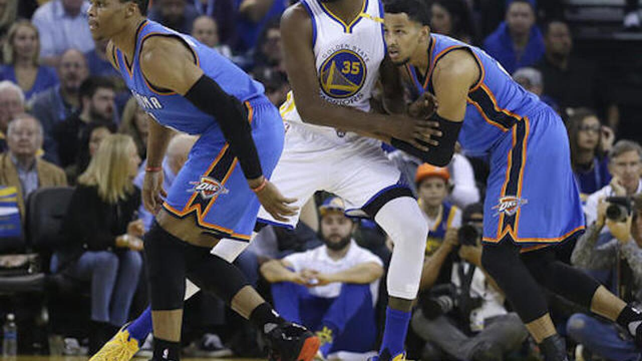 Durant goes off against old OKC teammates