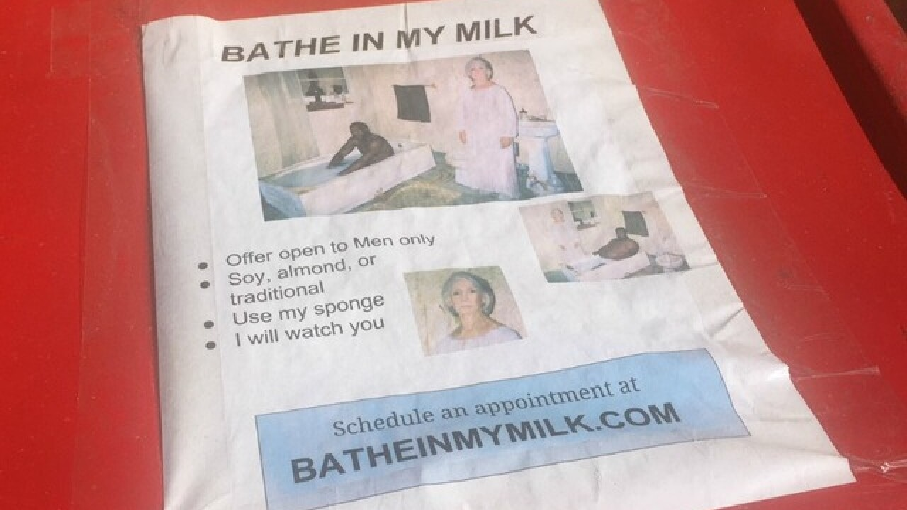 Huh? 'Bathe in my milk' sign spotted in Phoenix