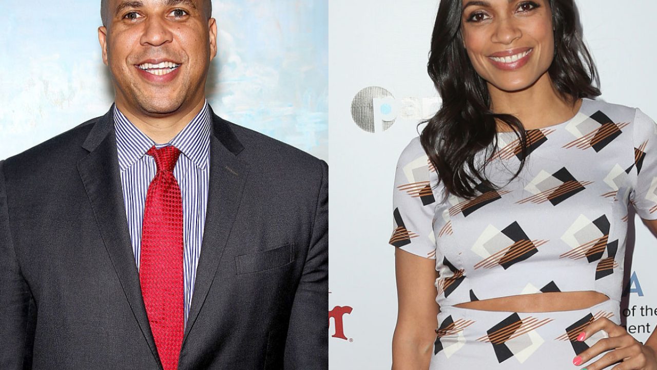 Presidential candidate Cory Booker is dating Rosario Dawson, she confirms