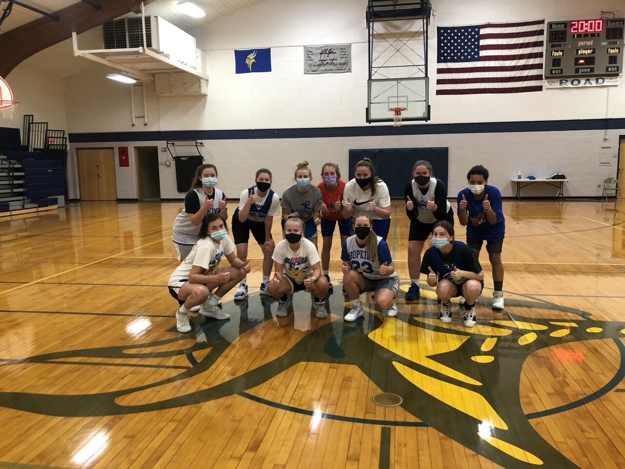 Hopkins girls basketball team gets started with non-contact practice