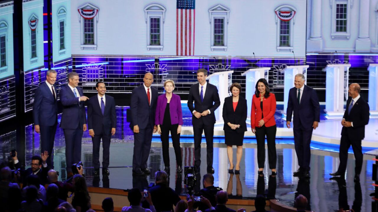 Democrats to send 10 to next week's presidential debate stage