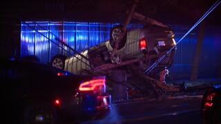 Crash on Lakeshore Blvd.