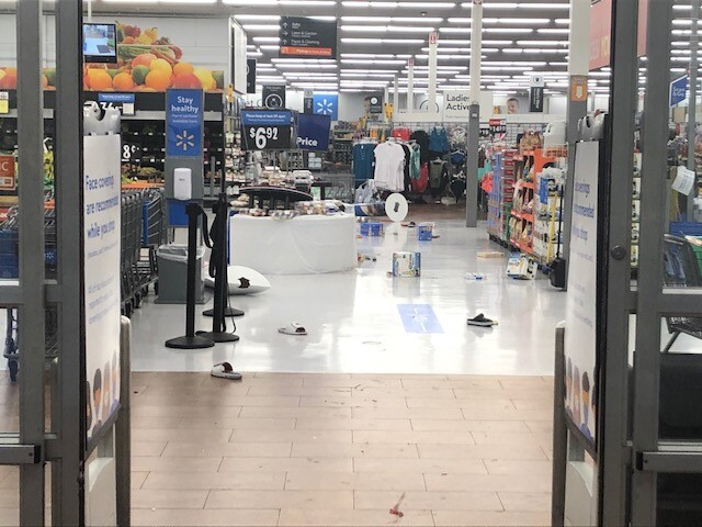 Walmart at Forest Hill Boulevard and Jog Road ransacked by looters
