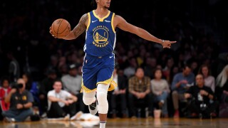 Damion Lee #1 of the Golden State Warriors