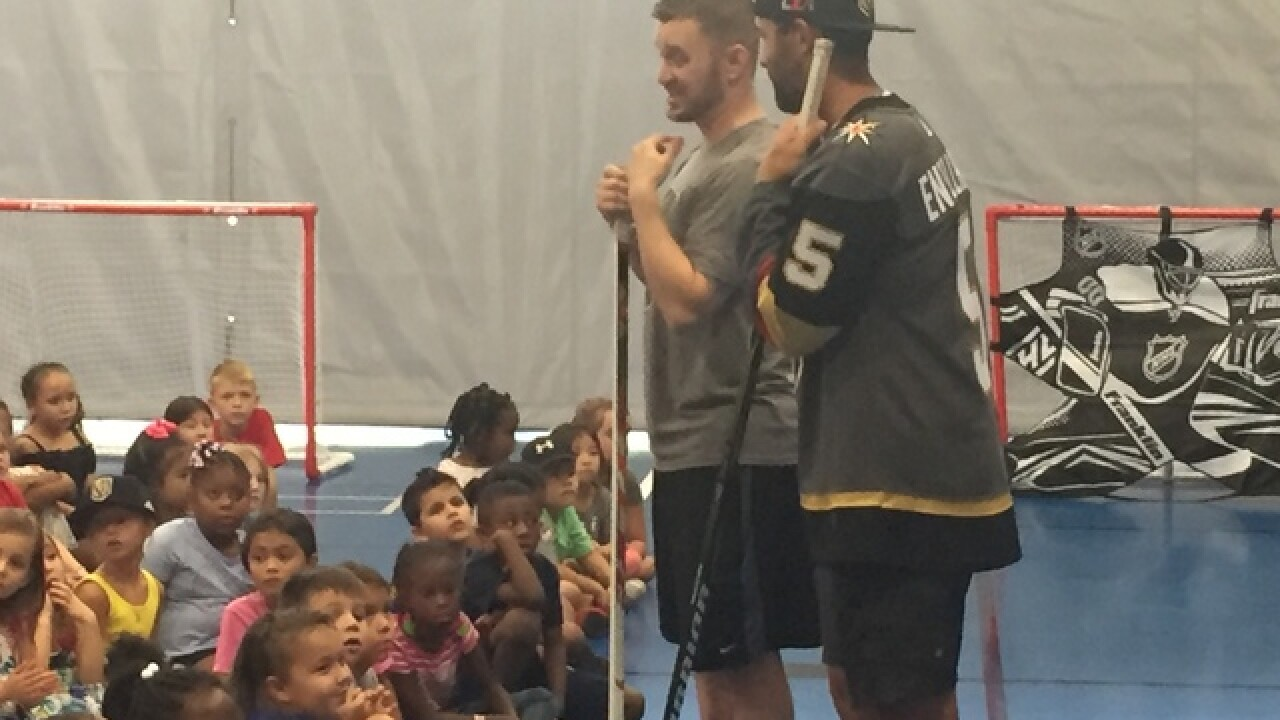 Kids surprised during youth hockey clinic