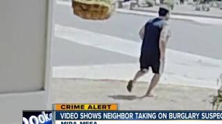 Video shows Mira Mesa neighbor taking on burglary suspects