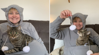 Cat Lovers Can Buy A Hoodie With A Special Pouch To Hold Their Fur Baby