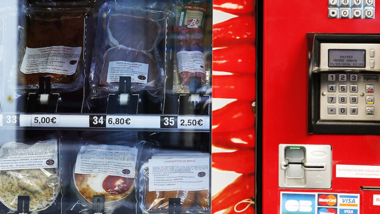 Meat vending machine debuts in France