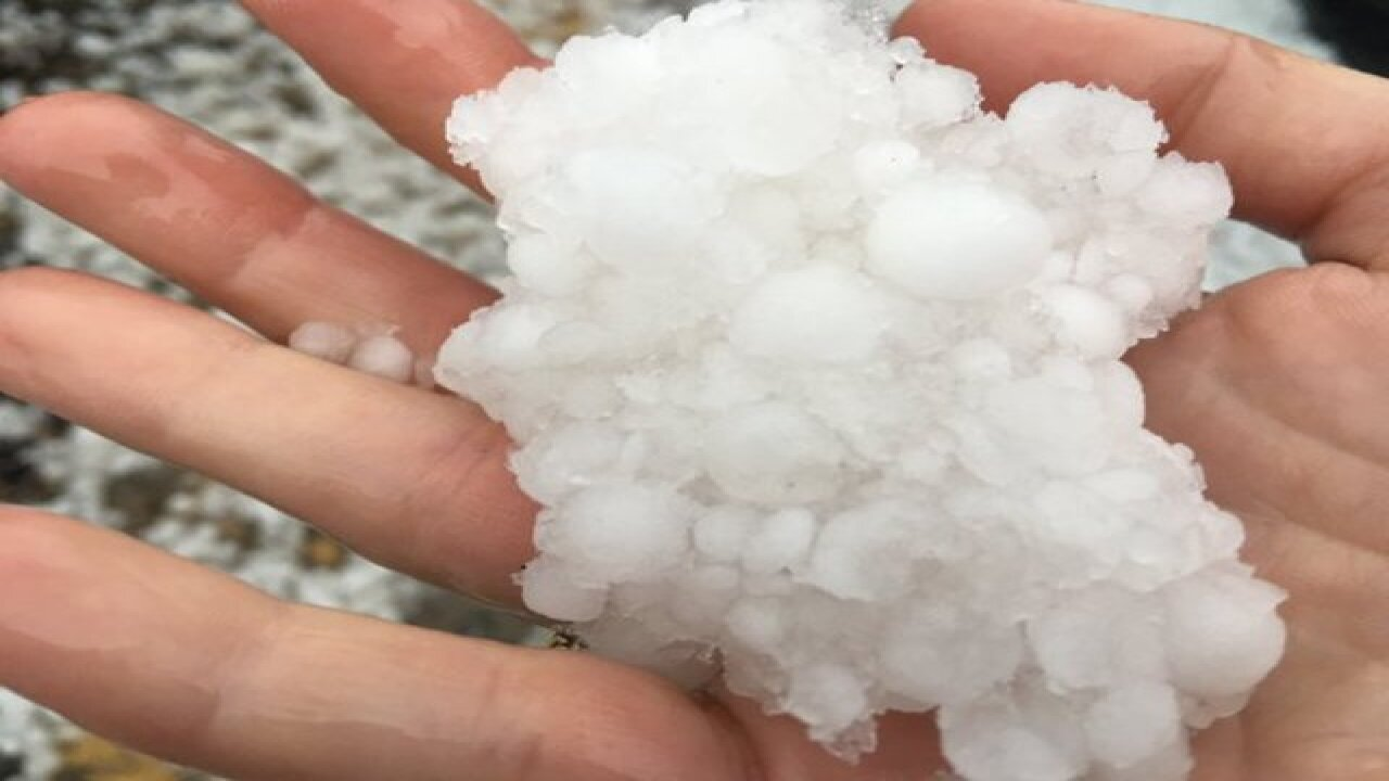 Hail hits northest Denver, Aurora, eastern Colo.