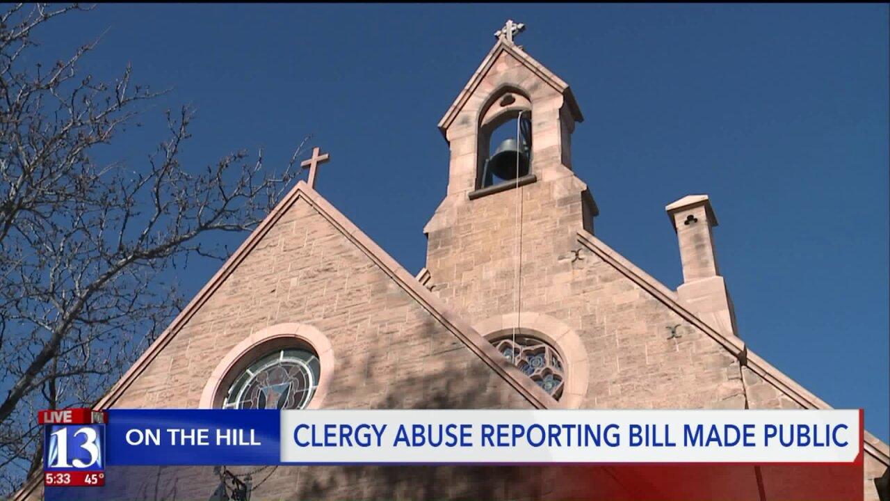 A bill in the Utah State Legislature removes 'priest-penitent' privilege when it comes to childabuse