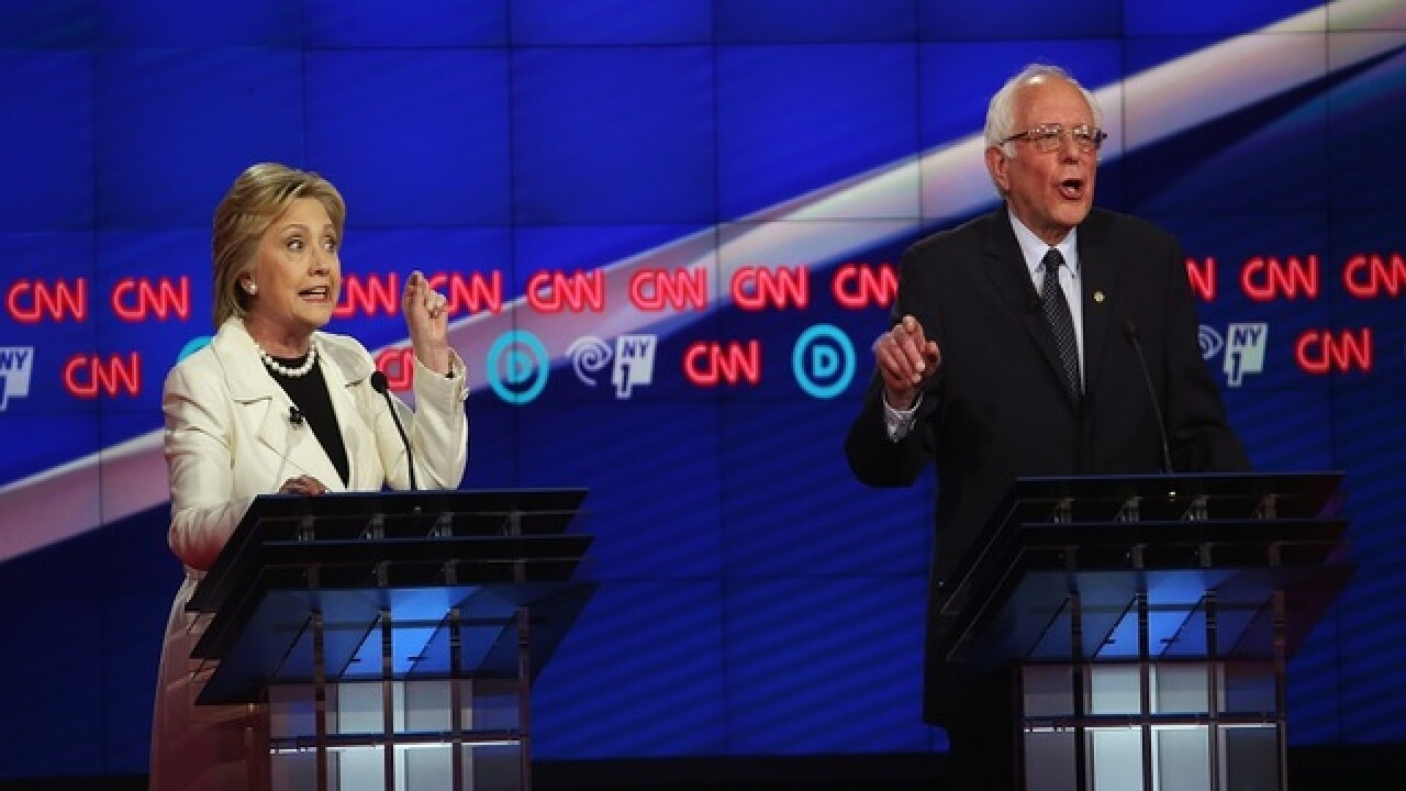 Debate: Clinton, Sanders show fighting sides