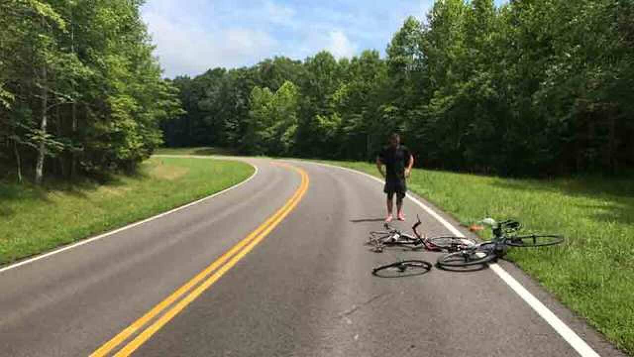 Video Shows Vehicle Hitting Cyclist; 1 Arrested