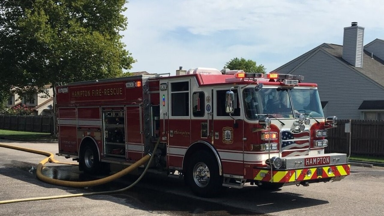 Hampton apartment building briefly evacuated due to gas leak