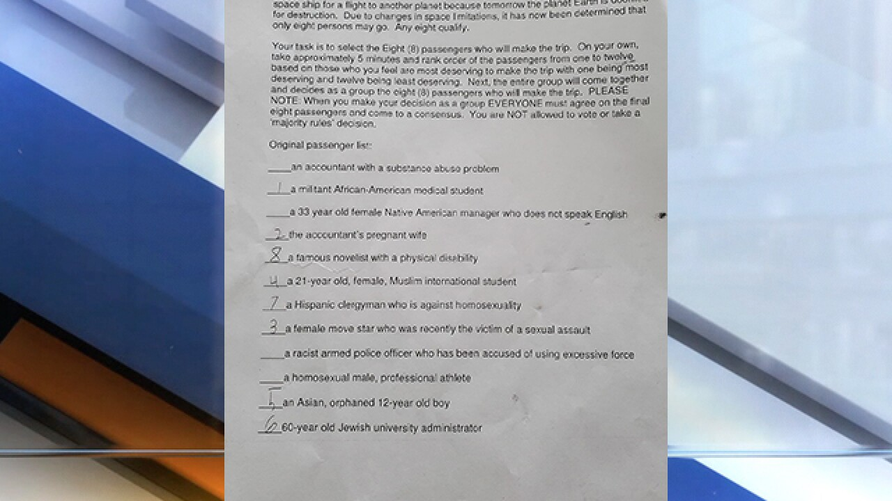 Controversial assignment asks Ohio students to rank 'most deserving' to save based on race, religion