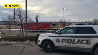 Emergency crews respond to van on fire in Great Falls