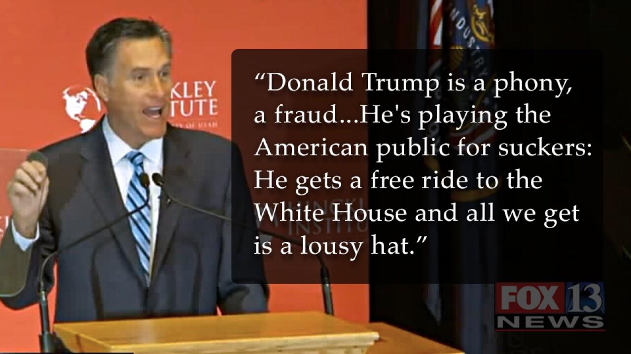 See Mitt Romney's full speech on why Trump is a 'fraud,' 'phony'