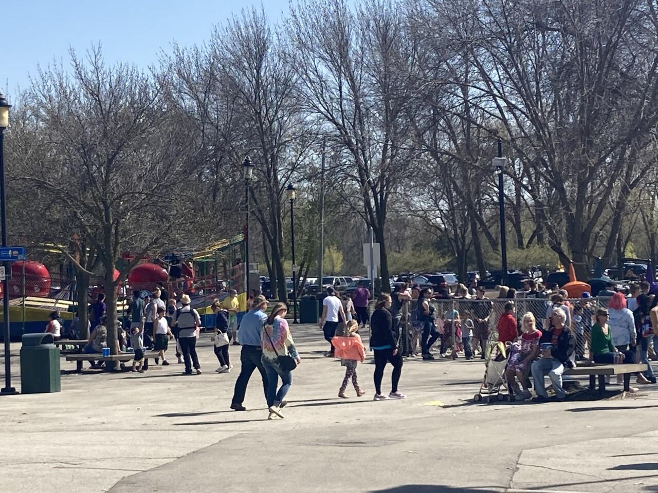 Families come out to Bay Beach Amusement Park