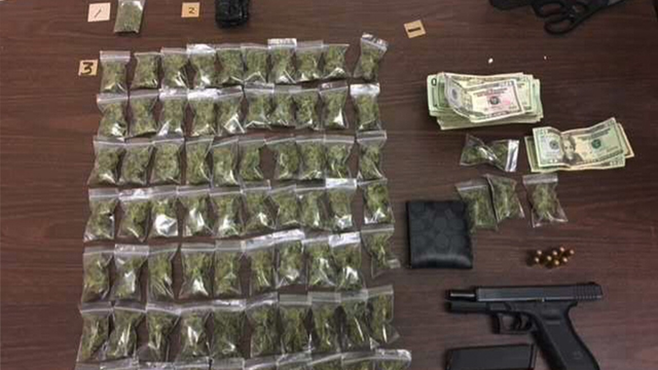 Repeat offender arrested with gun, drugs, cash