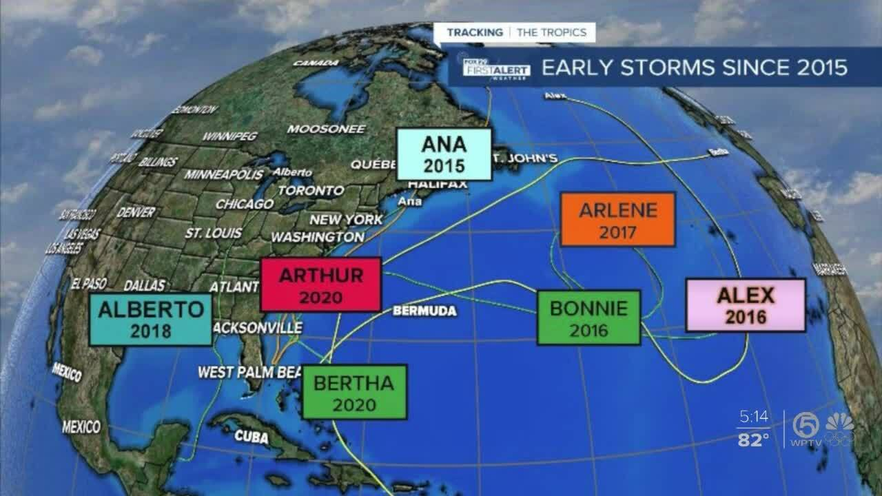 'Early Storms Since 2015' May 20, 2021 graphic