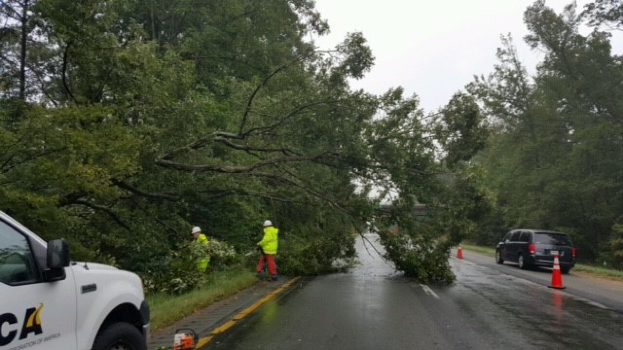 Tree cleared after closing I-64 east near Bottoms Bridge