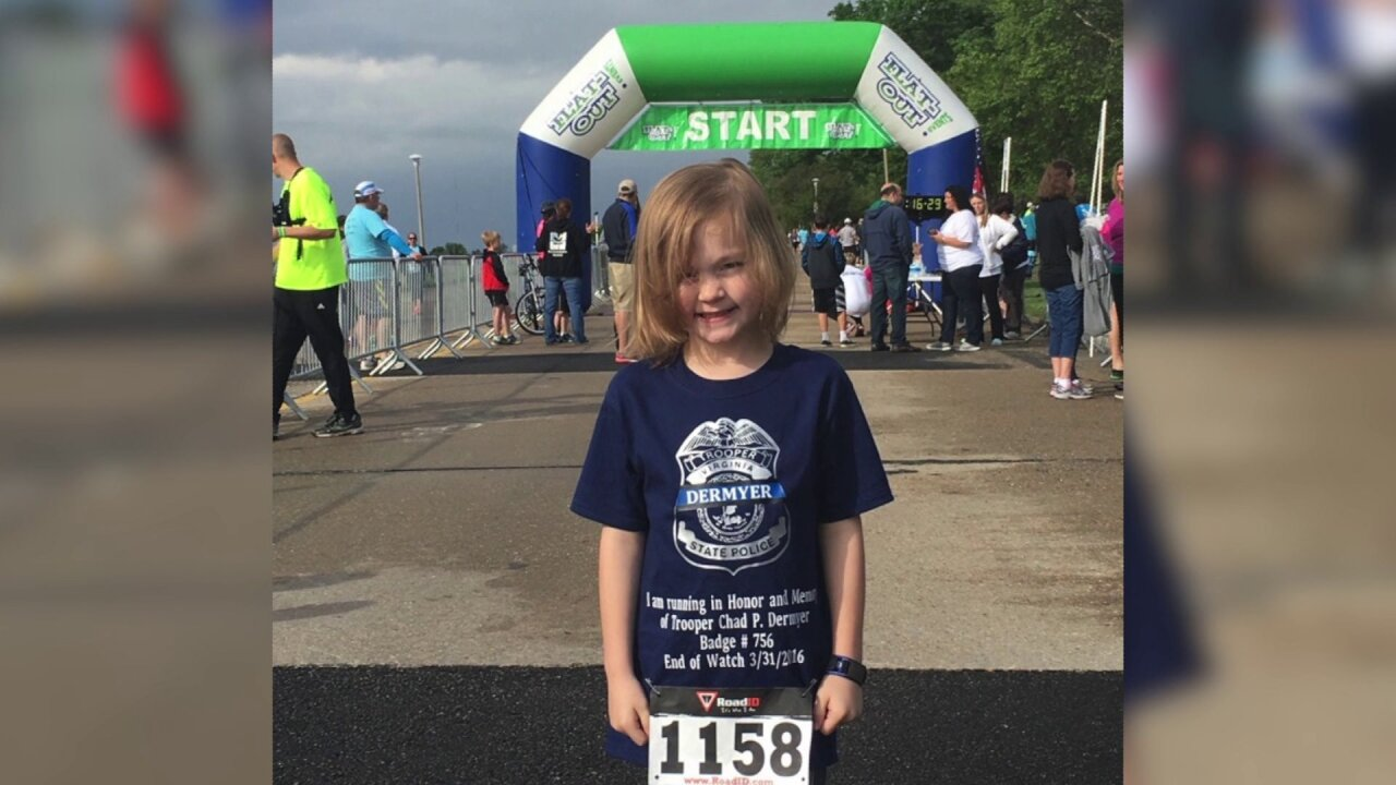 6-year-old running to raise money for family of Trooper Chad Dermeyer