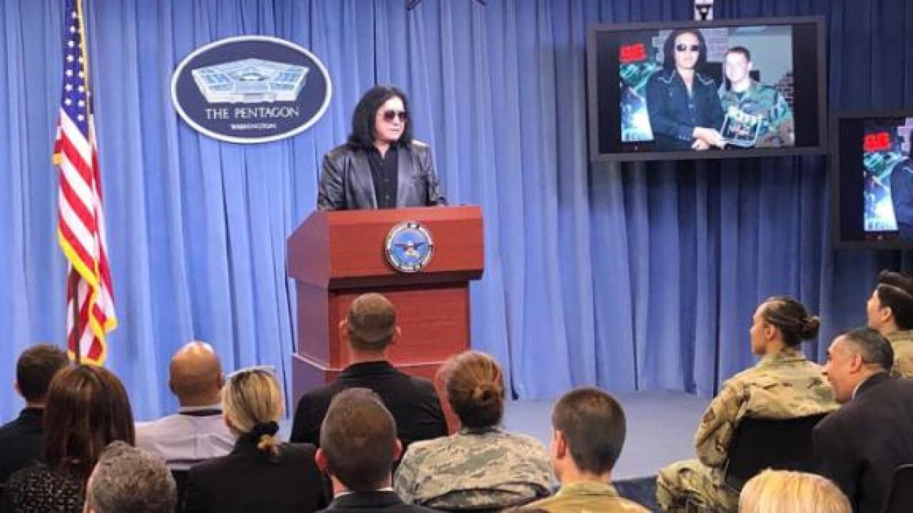 Gene Simmons hosts Pentagon press conference — first person to hold a presser there in almost a year