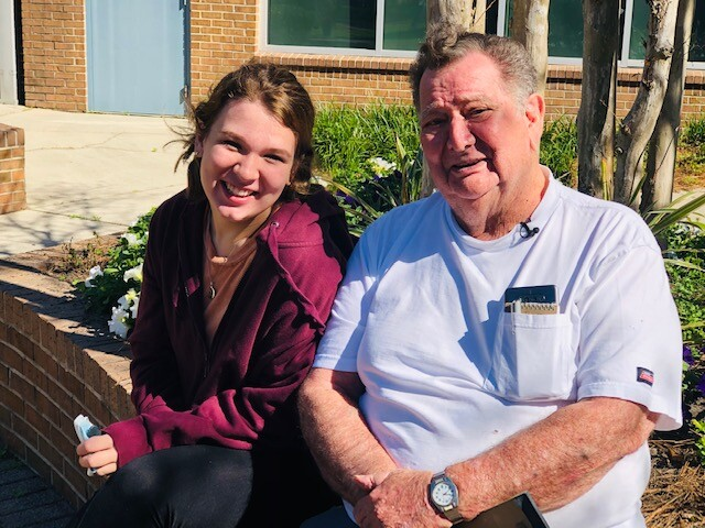 Kenneth Frisbie and great-granddaughter Carra Whaley