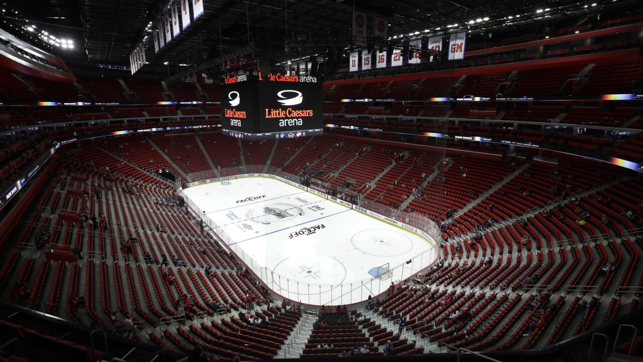 Little Caesars Arena Maple Leafs Red Wings Hockey