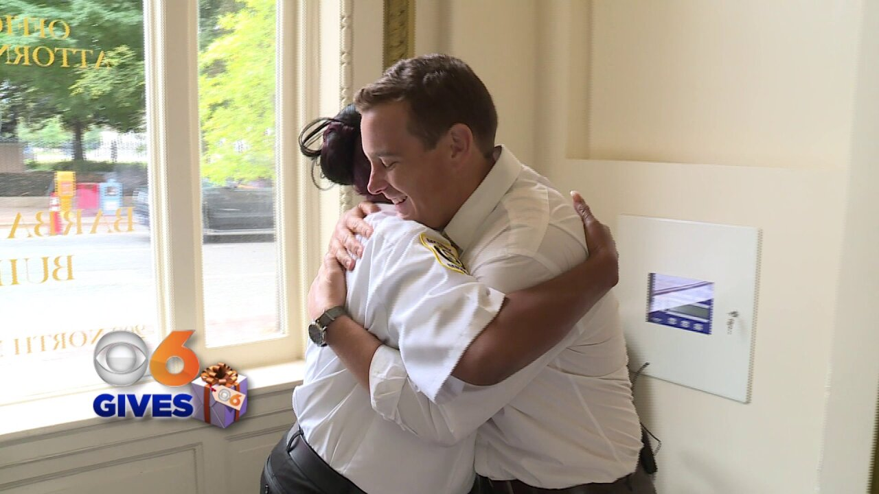 Jake Burns surprises kind security guard at Attorney General'soffice